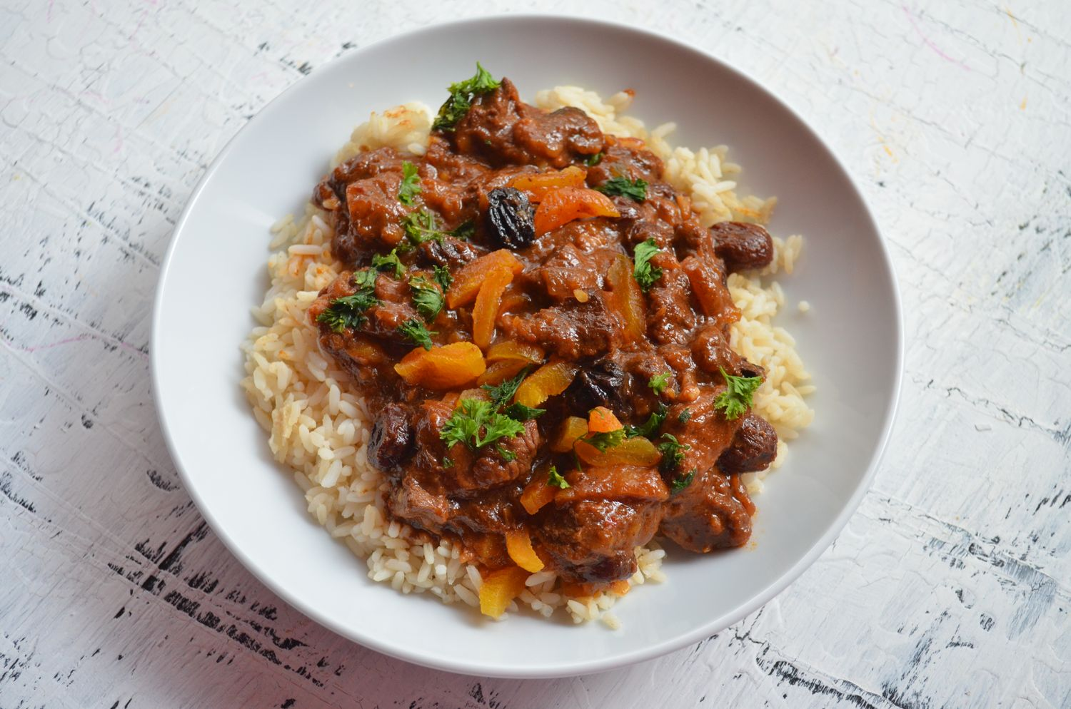 Moroccan Beef Stew by Mooshu Jenne