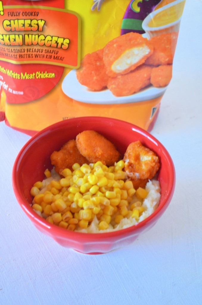 cheesy chicken bowls
