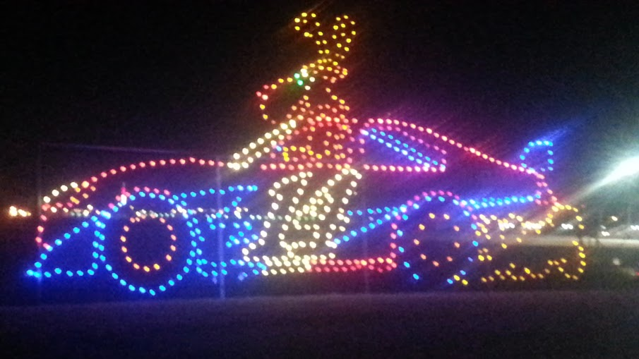 Gifts of Lights and Snow at Texas Motor Speedway