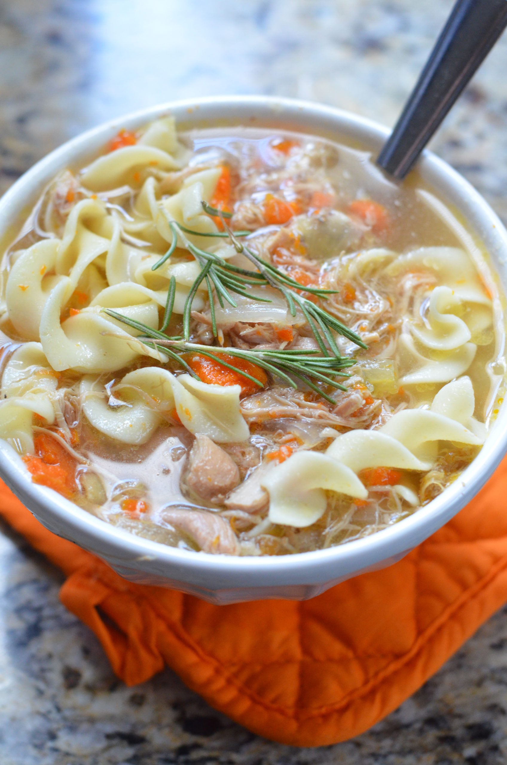 Chicken Soup Rosemary Chicken Noodle Soup