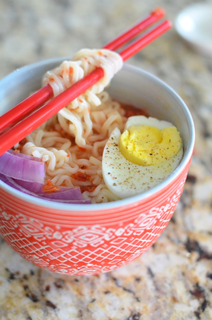 Sweet and Spicy Ramen - Mooshu Jenne #MC #MonkFruitInTheRaw #Sponsored